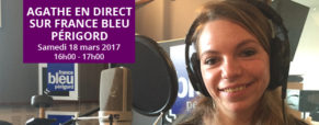 Agathe en direct sur France Bleu Périgord