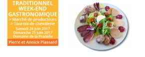 Traditionnel week-end gastronomique